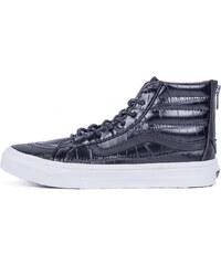 Sneakers - tenisky Vans SK8-HI SLIM ZIP (Croc Leather) black