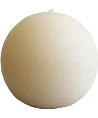 StarDeco Svíčka béžová kulatá 7 cm