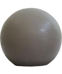 StarDeco Svíčka šedá kulatá 7 cm