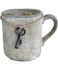 StarDeco Hrníček s klíčem, cement