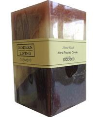 StarDeco Svíčka hnědá čtvercová 10 cm