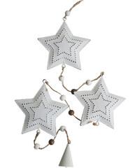 StarDeco Kovová závěsná ozdoba - hvězdičky
