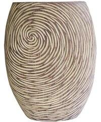 StarDeco Váza v přírodních světlých barvách 35 cm