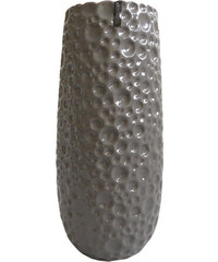 StarDeco TIMBER-keramická váza šedá 35cm