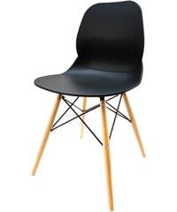 StarDeco Černá židle CR41-B+CR903