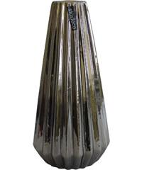 StarDeco Stříbrná váza 29 cm