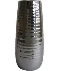 StarDeco Stříbrná váza ARIZONA 35,5 cm