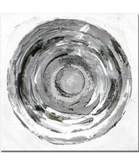 StarDeco (60x60)Silver Ring - Ručně malovaný