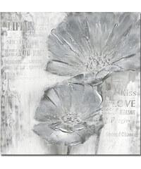 StarDeco (100x100)Silver Weed - Ručně malovaný