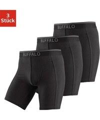 Buffalo Baumwoll-Longboxer (3 Stück) mit Logodruck im Webbund schwarz L(6),M(5),S(4),XL(7),XXL(8)