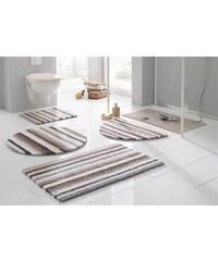 Ecorepublic Badematte Stand WC-Set Tim beidseitig verwendbar Bio Baumwolle grau 9 (2 tlg. Stand WC Set)