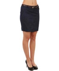 TopMode Elegantní jemně puntíkovaná sukně tmavě modrá