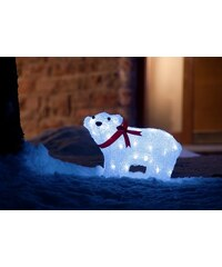 KONSTSMIDE LED Acryl Eisbär weiß