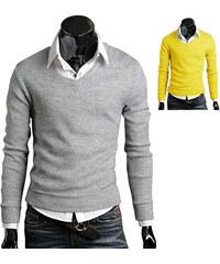 Lesara Herren-Pullover mit V-Ausschnitt - Gelb - XL
