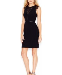 Guess Šaty Sleeveless Banded Lace Dress