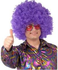 Superafro fialová - karnevalová paruka