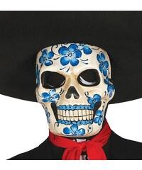 Fiestas Guirca Maska squelette s květy