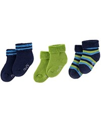 maximo Baby-Jungen Socken 3er Pack Babyvollfrotteesöckchen