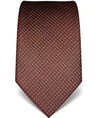 Vincenzo Boretti Luxusní hnědá kravata s prošitím V. Boretti 21939