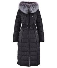 Dámský péřový kabát Veralba černý