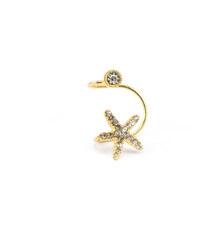 JewelsHall Náušnice na ucho - mořská hvězdice zlatá