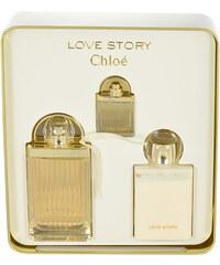 Chloe Love Story EDP dárková sada W - Edp 75ml + 100ml tělové mléko + 7,5ml edp
