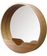 Zuiver Dřevěné zrcadlo Round Wall '60