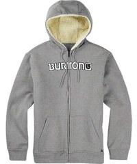 Pánská mikina Burton Fireside full ZIP hoodie gray heather M