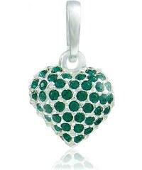 MHM Náhrdelník Srdce M4 Emerald 31107