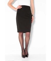 Venca Jednobarevná pouzdrová sukně černá