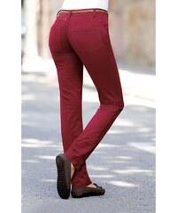Venca Keprové pružné kalhoty červená