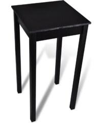 Černý kuchyňský barový stůl 55 x 55 x 107 cm
