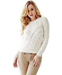 Guess Svetr Florence Long-Sleeve Cable-Knit Sweater