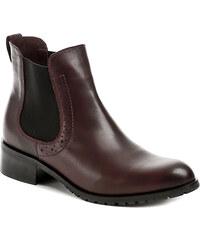 Hilby 826 bordó dámské kotníčkové boty - POŠTOVNÉ ZDARMA - POŠTOVNÉ ZDARMA