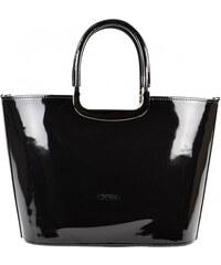 840d64d7e7 Luxusní kabelka černá lakovaná S7 GROSSO