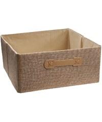 Ordinett Úložný box Halfcube Brown Sugar, 32x32 cm