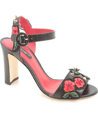 Sandales à talons Dolce & Gabbana en cuir noir