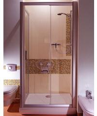 Ravak NRDP2-100 LEVÉ TRANSPARENT Sprchové dveře dvoudílné 100 cm satin