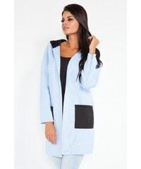 Dámský pletený kabátek Fobya F211 modrý