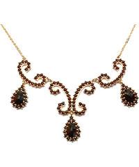 Bohemia Garnet Zlatý granátový náhrdelník - 128 (Au585)
