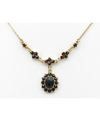 Bohemia Garnet Zlatý granátový náhrdelník - 234 (Au585)