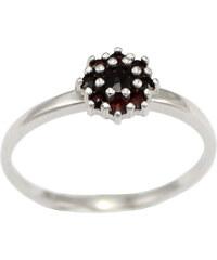 Bohemia Garnet Stříbrný granátový prsten - 320I, (rh) vel. 48