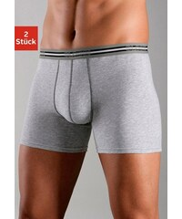 Boxer (2 Stück) moderne Retro Pants in normaler Passform tolle Baumwoll-Stretch-Qualität SLOGGI grau 4,5,6,7,8