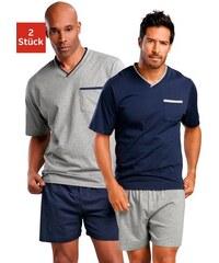 Shorty (2 Stück) Pyjamas kurz Le Jogger Farb-Set 44/46,48/50,52/54,56/58,60/62