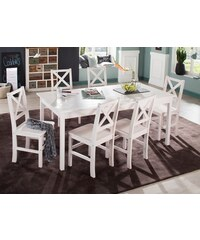 HOME AFFAIRE Essgruppe Marta (7-tlg.) mit großem Tisch weiß