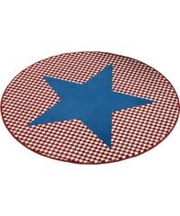 Teppich Stern rund gewebt HANSE HOME blau 9 (Ø 140 cm)