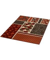 Teppich Herzen gewebt HANSE HOME rot 3 (B/L: 140x200 cm)