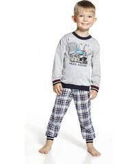 """Chlapecké pyžamo Cornette """"Police"""" Kids, šedá"""