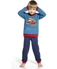"""Chlapecké pyžamo Cornette """"Fire Truck"""" YOUNG, červená - modrá"""