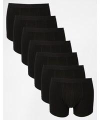 ASOS - Lot de 7 boxers - Noir - Noir